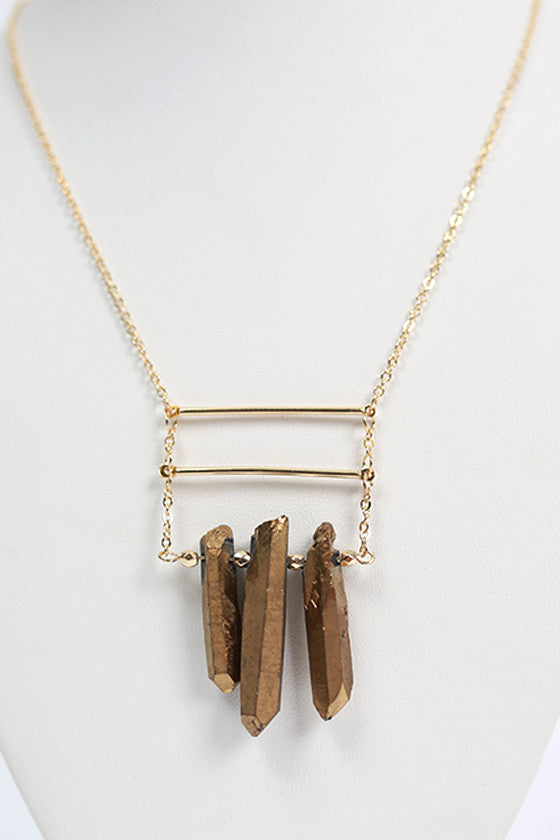 Sass & Class Necklace in Gold