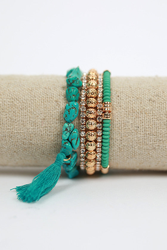 Blissful Day Bracelet in Turquoise