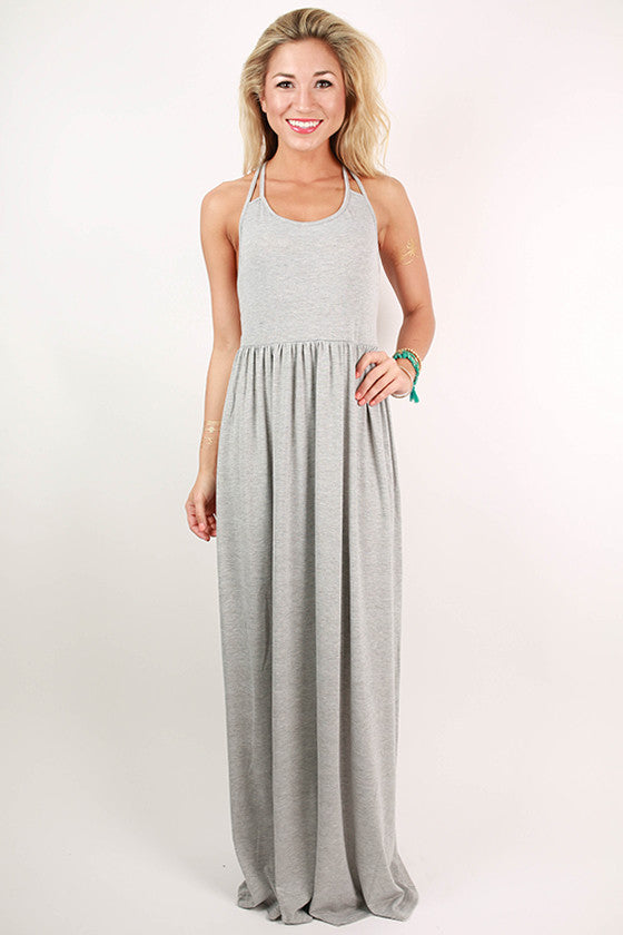 Summer Sunrise Maxi Dress in Grey