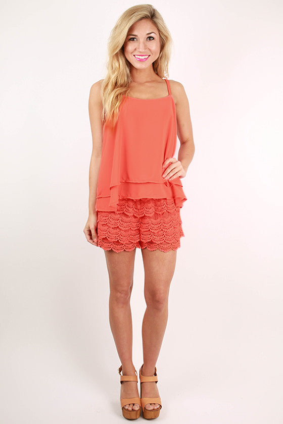 Travel The World Crochet Romper in Calypso