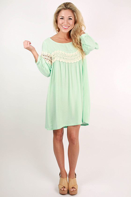 On Cloud Nine Dress in Aqua Sky