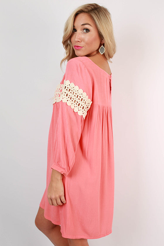 On Cloud Nine Dress in Coral