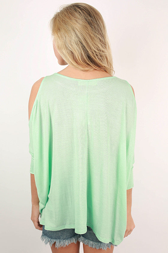 Perfect Timing Off Shoulder Top in Mint