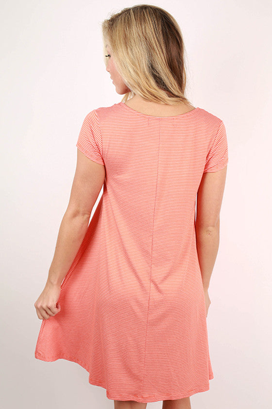 Glamorous Life Stripe Dress in Orange
