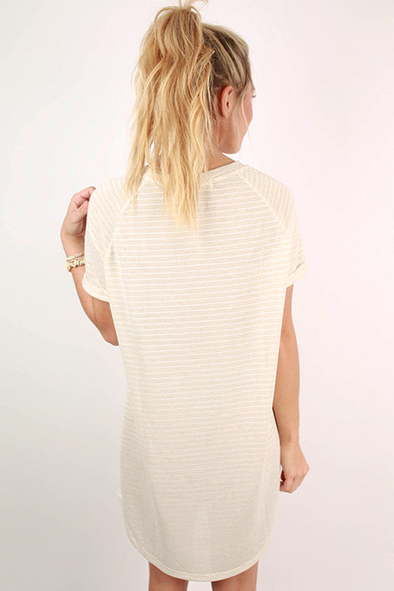 Ticket To Paradise Stripe Tunic in Ivory