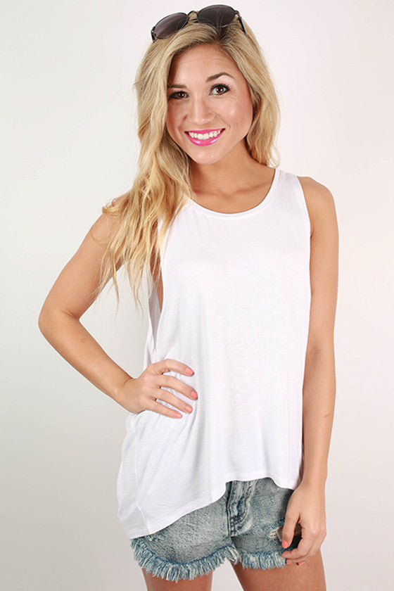 Across The Universe Tank in White