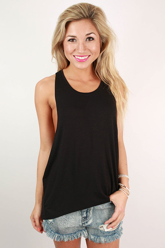 Across The Universe Tank in Black