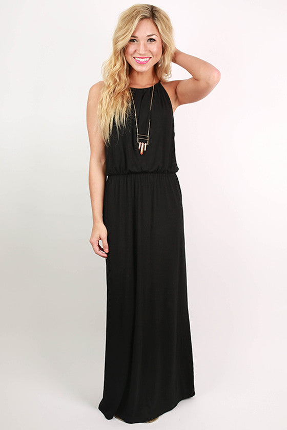 Party On Maxi Dress in Black