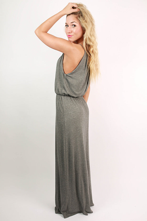 Party On Maxi Dress in Dark Grey