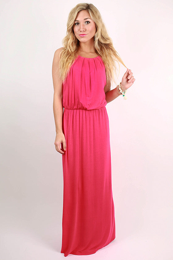 Party On Maxi Dress in Raspberry