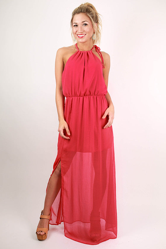 Love in The Sun Maxi Dress in Red