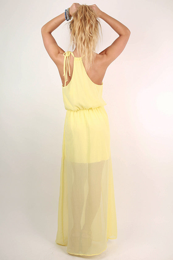 Love in The Sun Maxi Dress in Yellow