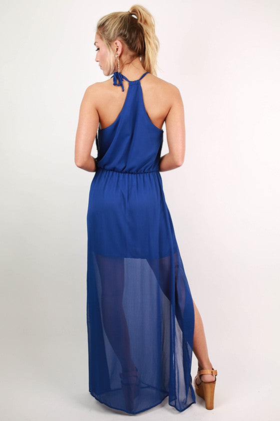 Love in The Sun Maxi Dress in Royal Blue