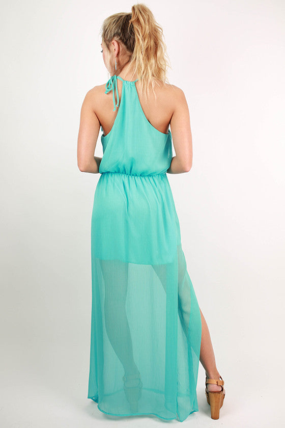 Love in The Sun Maxi Dress in Sky Blue