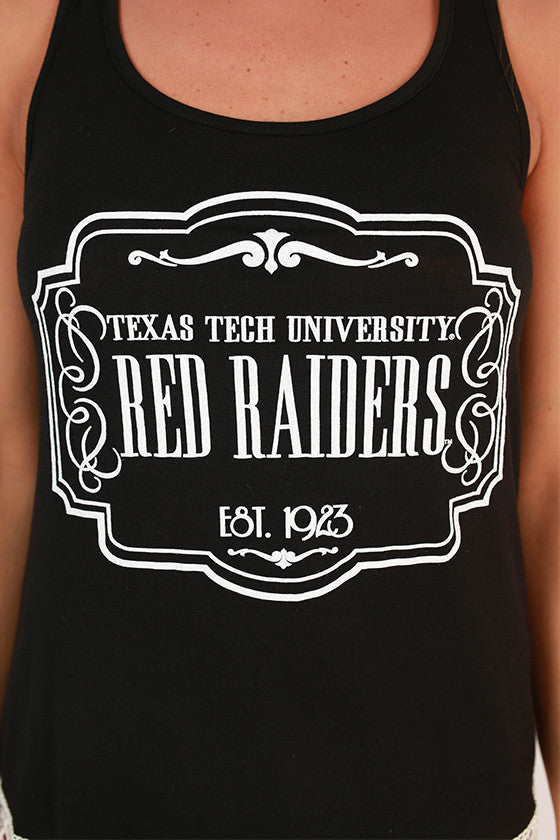 Crochet Trim Tank Texas Tech University
