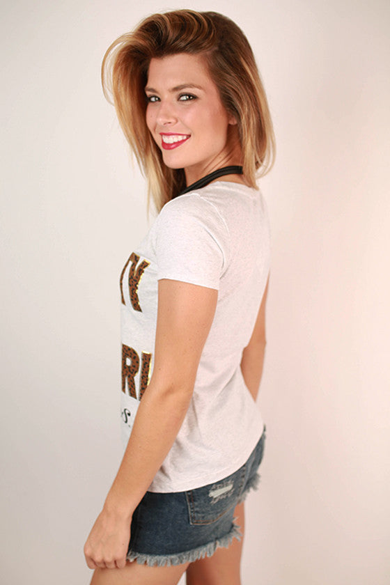 Leopard & Foil Scoop Tee University Of Missouri