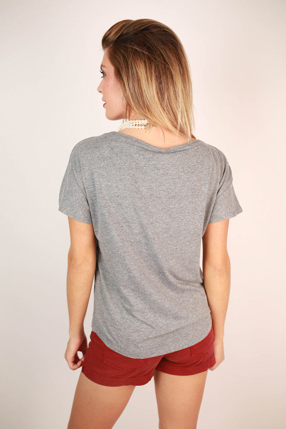 Metallic Foil Dolman Tee Texas A & M University