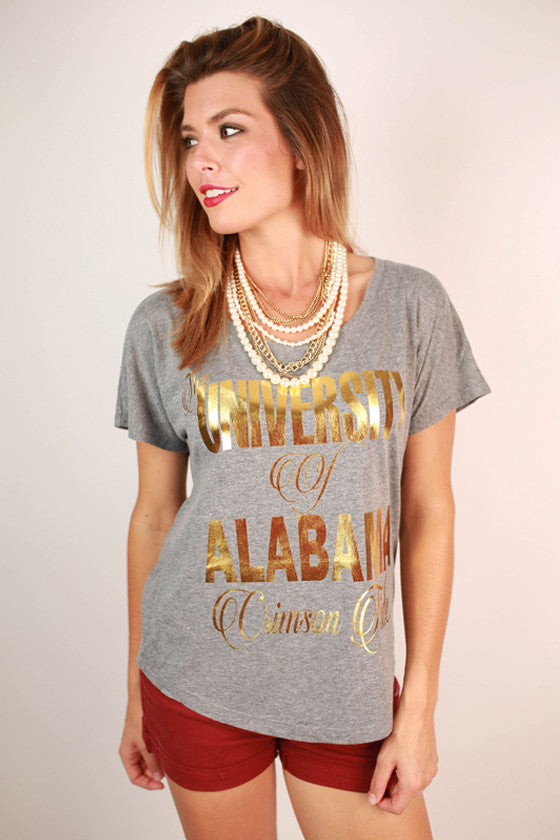 Metallic Foil Dolman Tee University Of Alabama