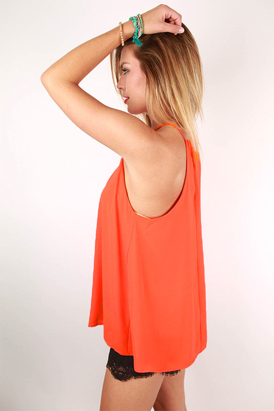 Porch Party Tank in Tangerine