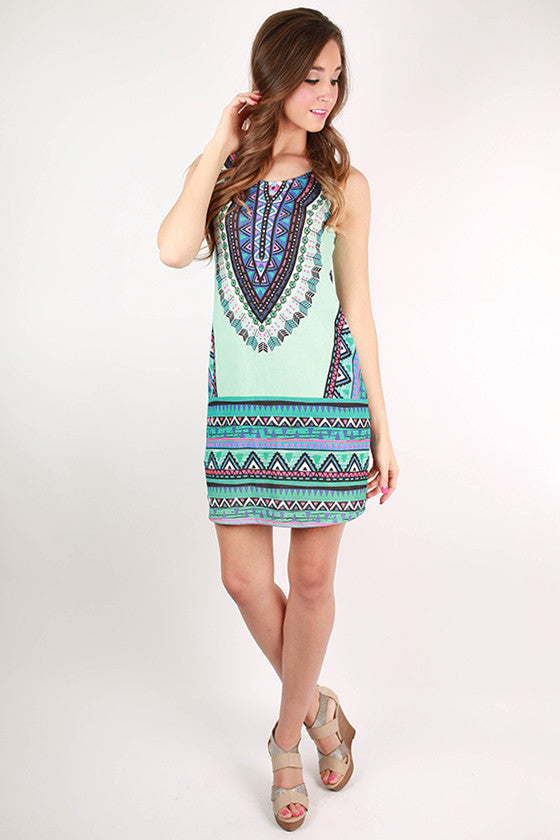 Lost in Paradise Dress in Mint