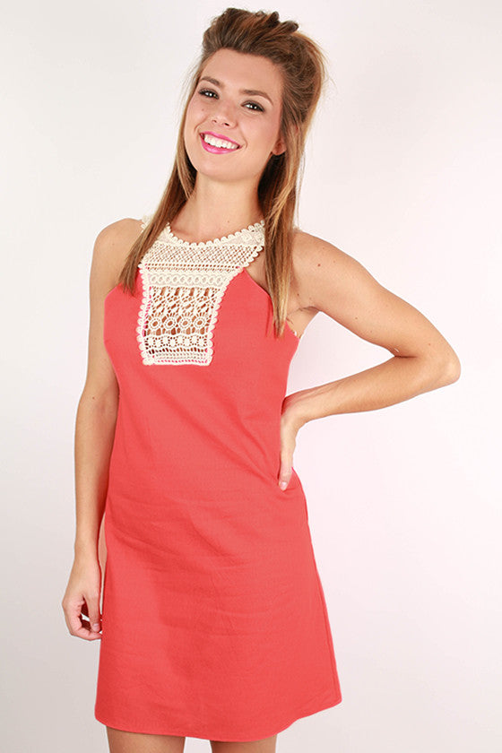 Make The Cut Crochet Dress in Calypso