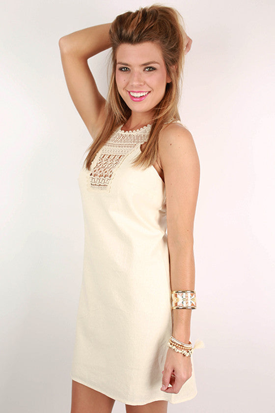 Make The Cut Crochet Dress in Ivory