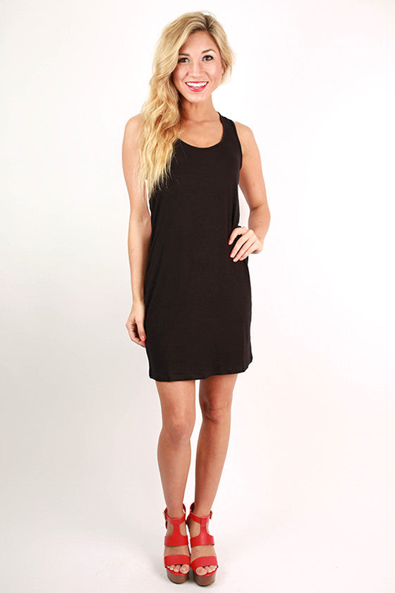 Bora Bora Beauty Tank Dress in Black