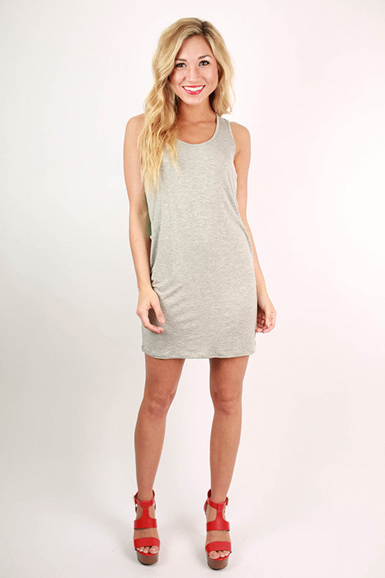 Bora Bora Beauty Tank Dress in Grey