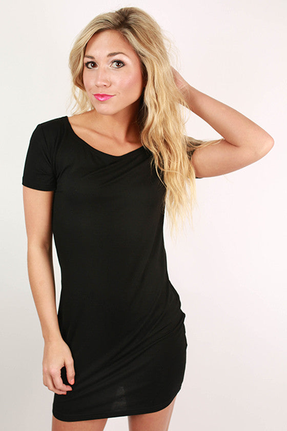 PIKO Short Sleeve Dress in Black