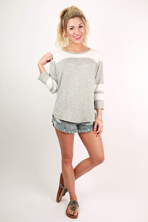 The Playful Tee in Grey
