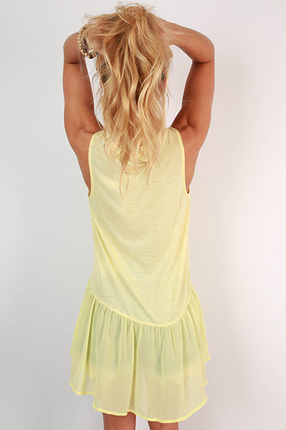Cosmos & Chit Chat Hi-Lo Tank in Yellow