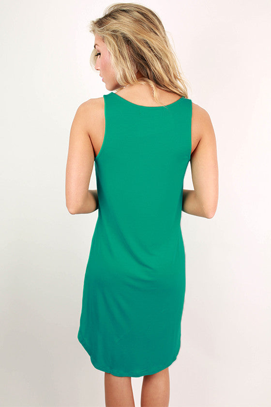 Sweet Escape Hi-Lo Tank Dress in Turquoise