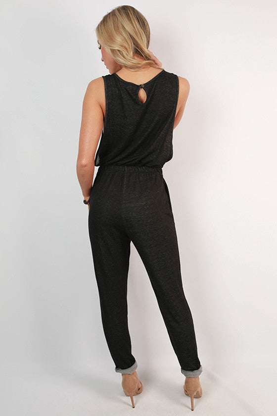 After Party Jumpsuit in Black