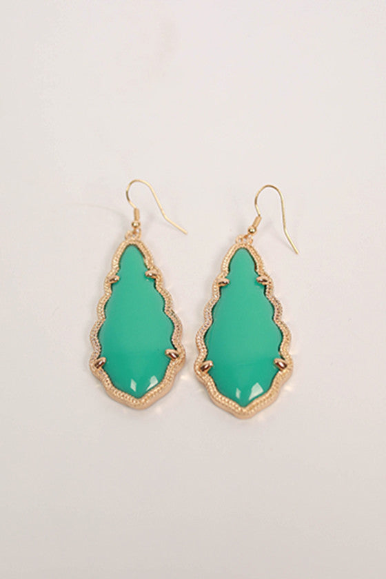 Queen For A Day Earrings in Turquoise