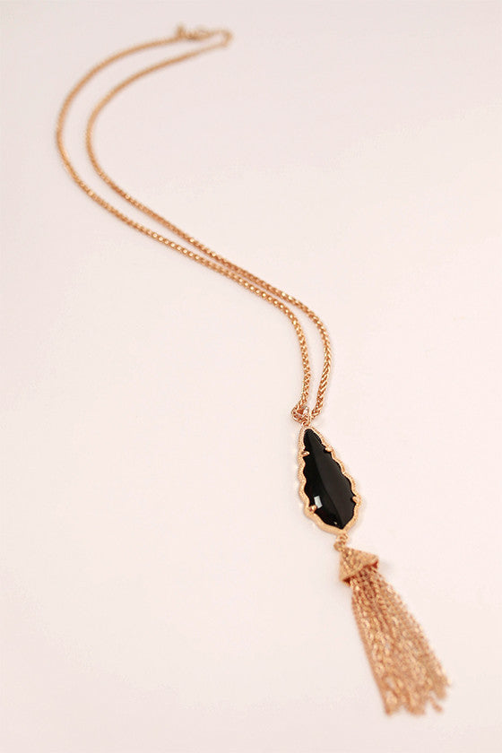 Queen For A Day Necklace in Black