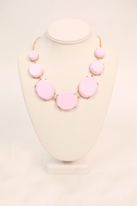 Must Have Necklace in Light Pink