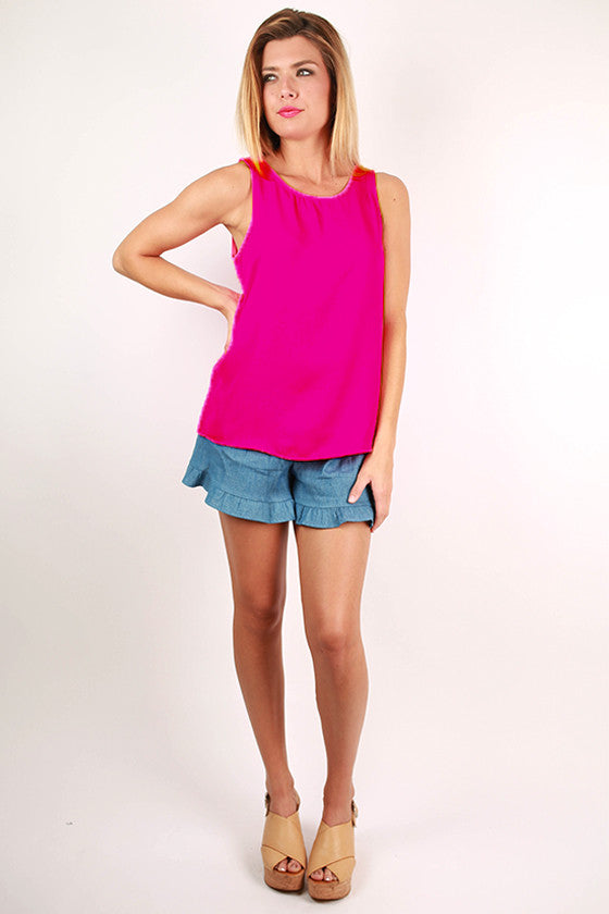 Light Up My Life Tank in Fuchsia