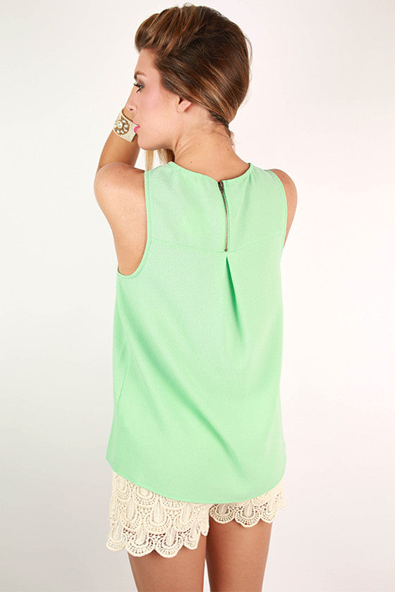 Feeling So French Tank in Mint