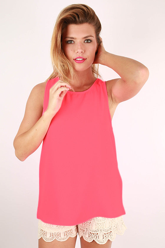 Feeling So French Tank in Neon Pink
