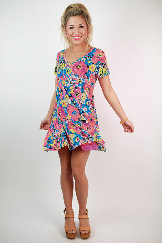 Searching For Sunshine Floral Shift Dress