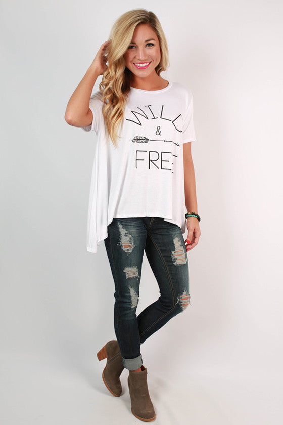 Can't Be Tamed Swing Tee in White