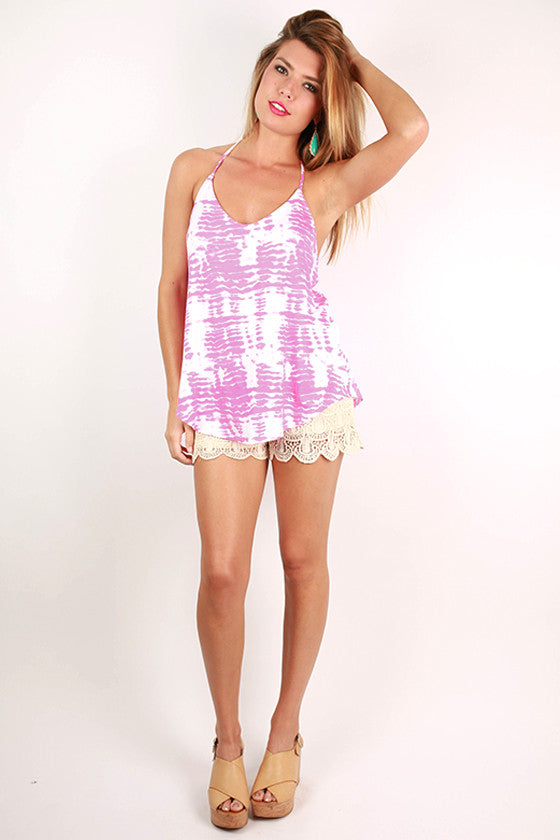 Bora Bora Beautiful Tank in Hot Pink