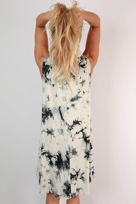 Road Trip Ready Tie Dye Tank Dress in White