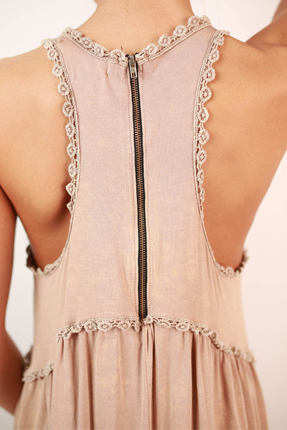 Fashion Queen Tank Top in Taupe