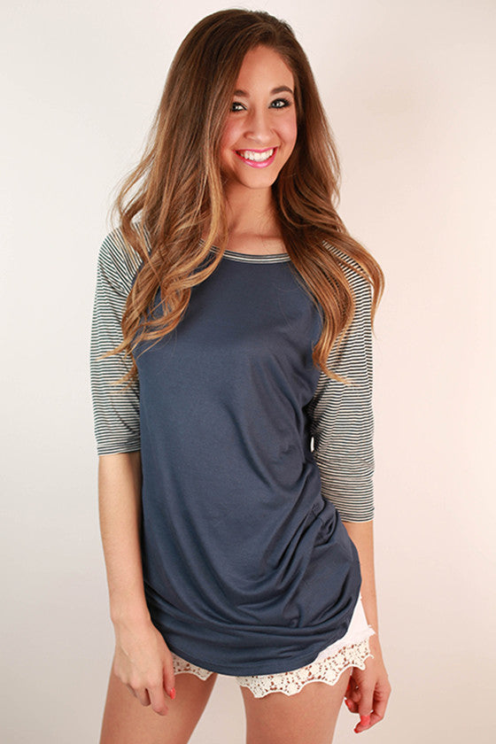 On Tour Tunic in Navy
