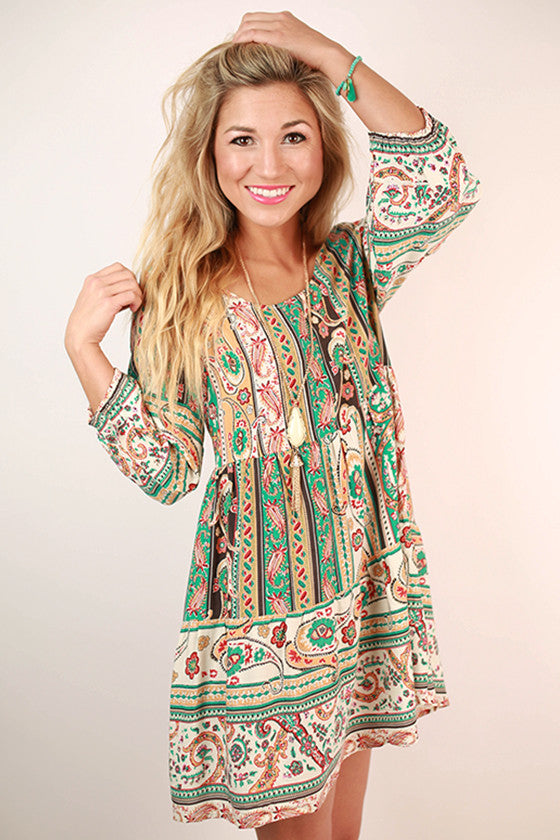 Fall In Love Dress in Jade
