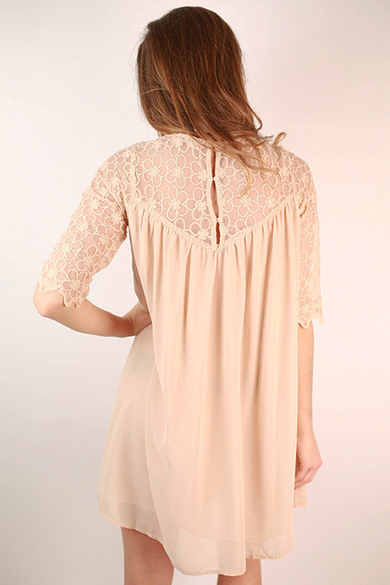 She's A Beauty Shift Dress in Beige