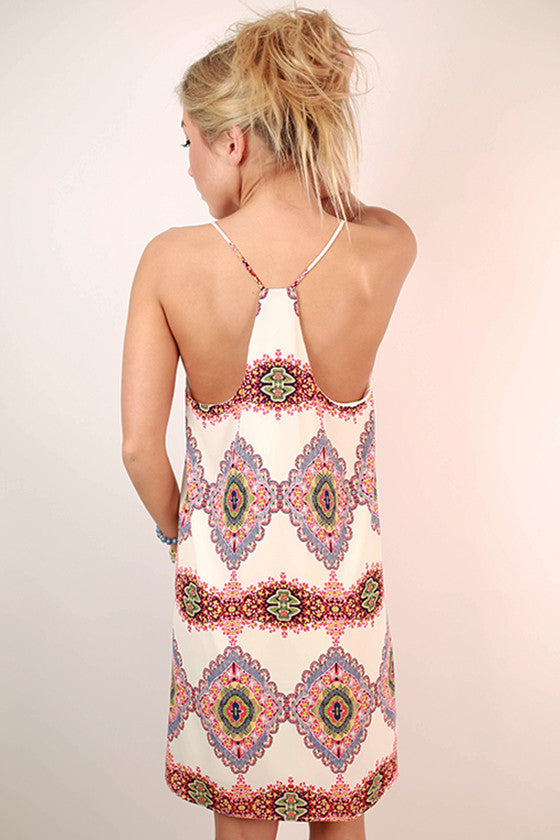 Party At South Beach Racerback Dress in White