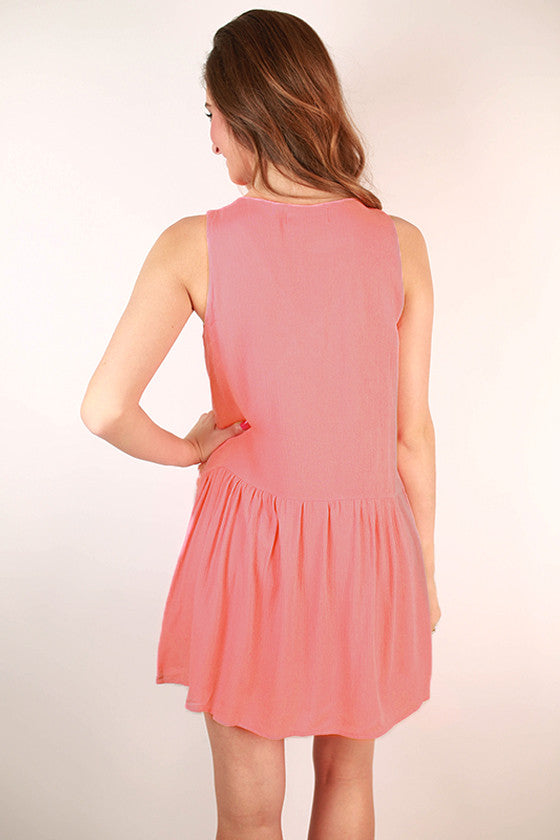 Party All Night Sleeveless Dress in Calypso