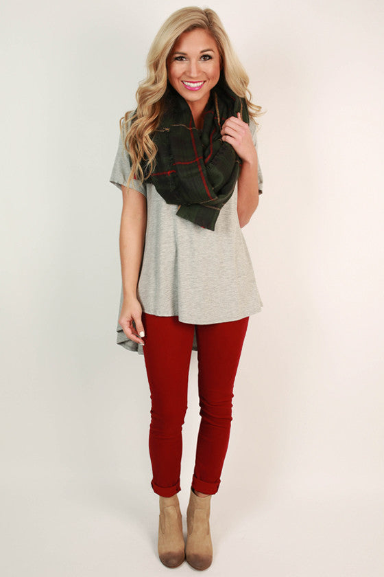 The Jetsetter Hi-Lo Top in Grey